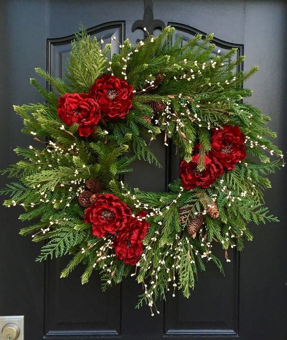 Artificial Christmas Wreaths Decorated