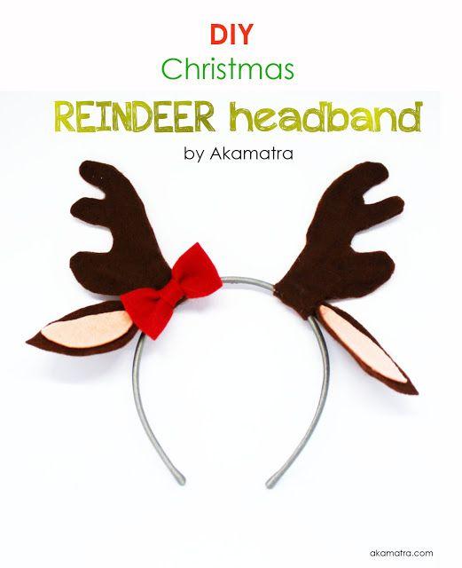 how to make reindeer headband