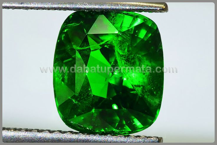 Elegant Hot TSAVOLITE Green GARNET No Heat Code:BRG 008  Nama:GARNET (TSAVOLITE)  Asal/Origin:Sri Lanka/ Tanzania  Berat Batu:4.1 ct  Size/Ukuran:9.5 x 8.2 x 6.6 mm