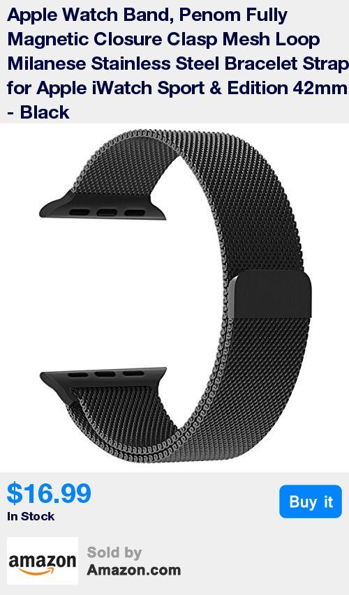 Top stainless steel mesh loop in a warm, black color, really dressed up your Apple watch; Fit for all 42 mm versions of the Apple watch, wrist size: 6.15 Inch - 10.35 Inch * Black mesh loop with durable adapters, very comfortable to wear and easy to install; Replace 42mm Apple watch band easily and directly * Strong magnetic clasp, convenient for you to adjust the size; Ensure your watch in steady and secure, no problem for most sports * One Year Warranty. We are happy to send out a replacem
