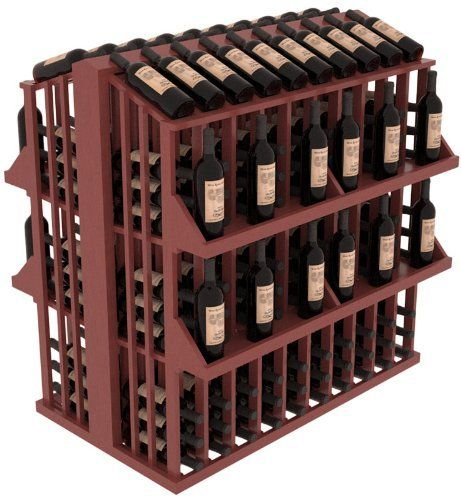 Wooden 300 Bottle Single Reveal Aisle Wine Cellar Rack Storage Kit in Pine with Cherry Stain + Satin Finish by Wine Racks America®. $816.13. The Commercial Aisle 300 is a single deep wine display that is perfect for narrow, high-traffic areas. The top level display allows customers to read bottle labels without blocking their view of other displays. Comes with 4 solid wood shelf systems to add extra display to increase your bottom line. The Wine Racks America Retail Ed...
