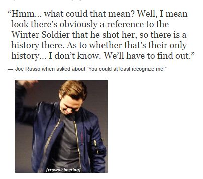 Sebastian Stan Approves hahah || #buckynat #winterwidow<< I thought it was a Bucktasha thing at first and then I realized it was just referencing The Winter Soldier, but now I have hope again.