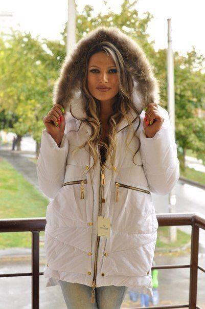 Зимняя куртка парка белая