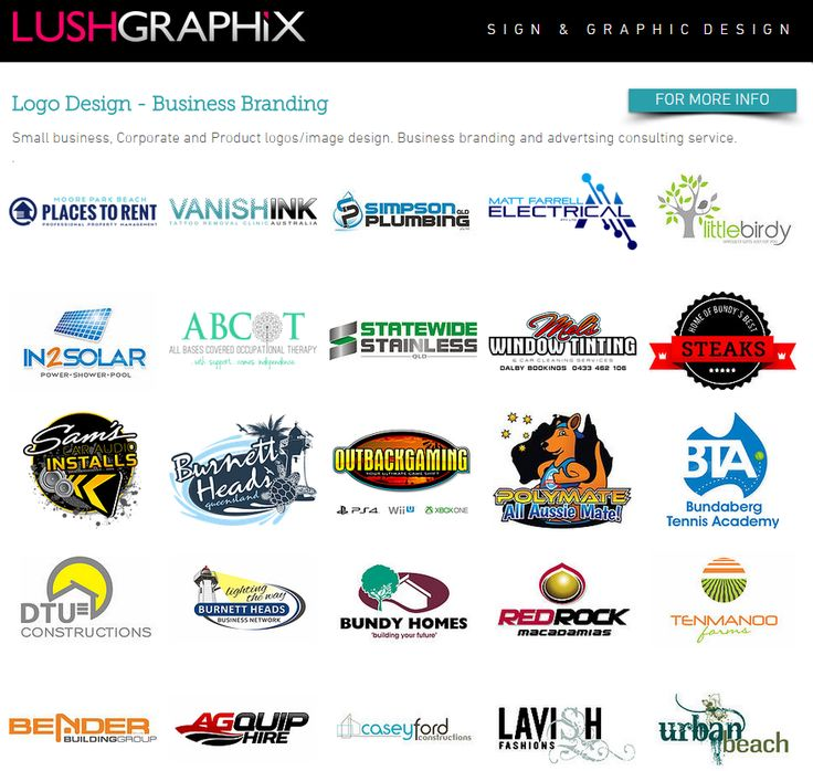 For more logo design examples visit us at www.lushgraphix.com.au