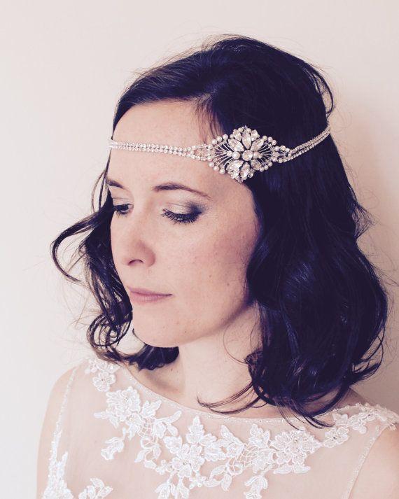 Bridal Great Gatsby vintage headpiece vintage by JoannaReedBridal