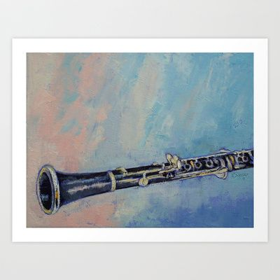 Clarinet Art Print by Michael Creese - $22.88