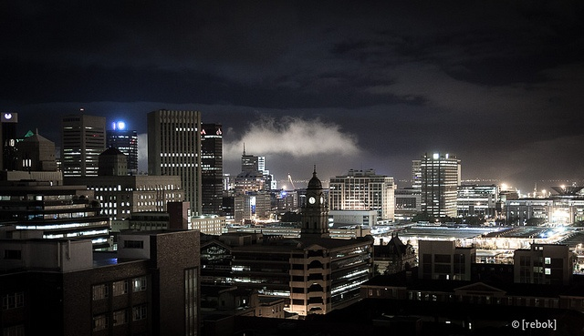 Cape Town by Night by Christoph Rebok, via Flickr #SouthAfrica