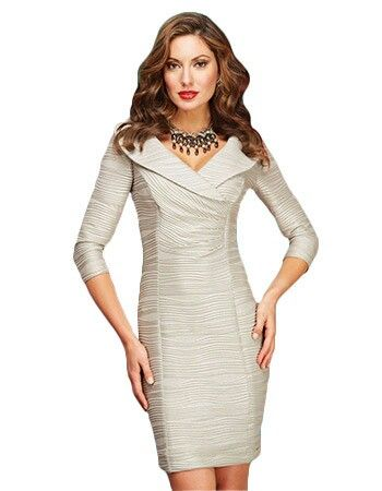 This stylishly soffisticated champagne coloured dress is a Frank Lyman classic.  Now in the sale at £159!