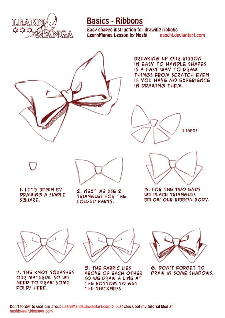 Learn Manga Basics: Ribbons by Naschi.deviantart.com on @deviantART