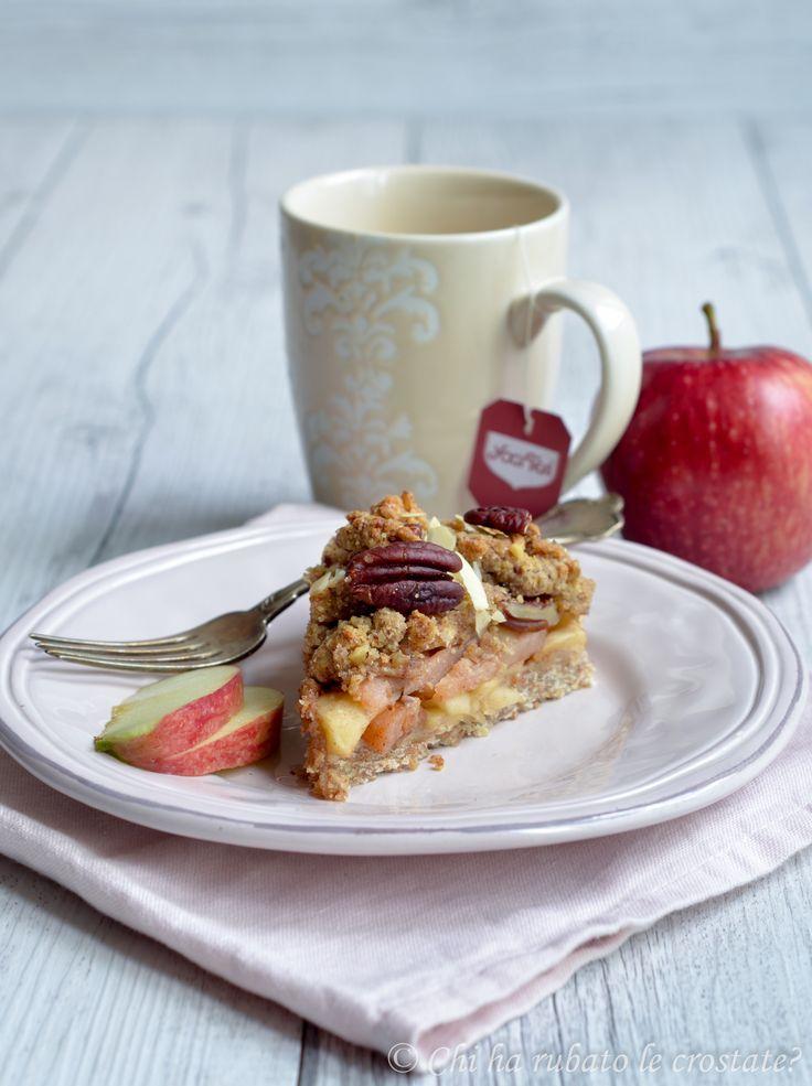 Chi ha rubato le crostate? :  » Torta crumble alle mele e burro di mandorle _ vegana_
