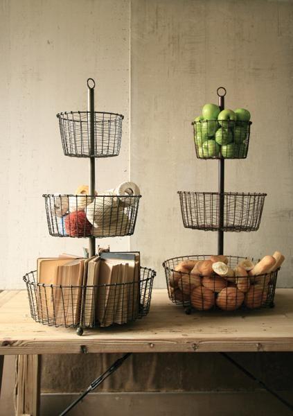 22 Best Three Tier Wire Basket Images On Pinterest