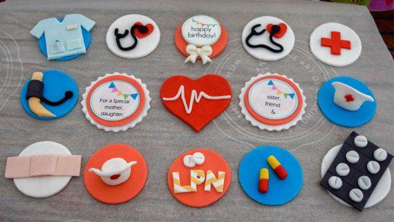 Krankenschwester Cupcake Topper/Arzt Cupcake Topper /