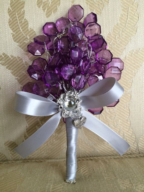 Hey, I found this really awesome Etsy listing at https://www.etsy.com/listing/183827179/purple-bouquet-keepsake-for-mother-of