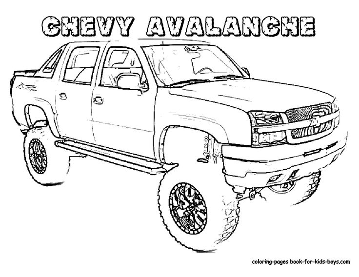 cars coloring page Chevy Coloring Pages Chevy