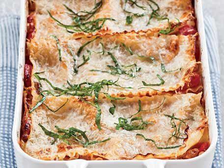 Free-Form Sausage-and-Three-Cheese Lasagna Recipe - KitchenDaily