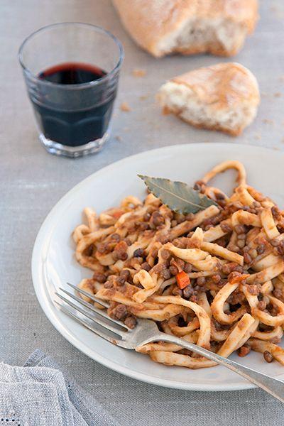 Ragù vegetariano di lenticchie