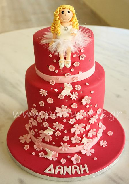 Ballerina Double Barrel Cake by Party Cakes By Samantha, via Flickr