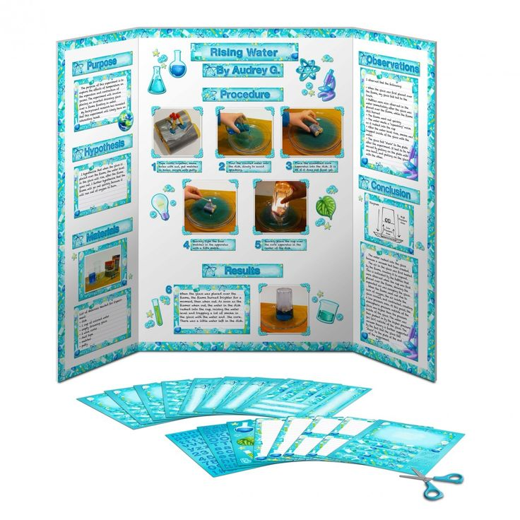 Printable to decorate science fair display boards! Everything you need to make a poster, all you have to do is add your research!