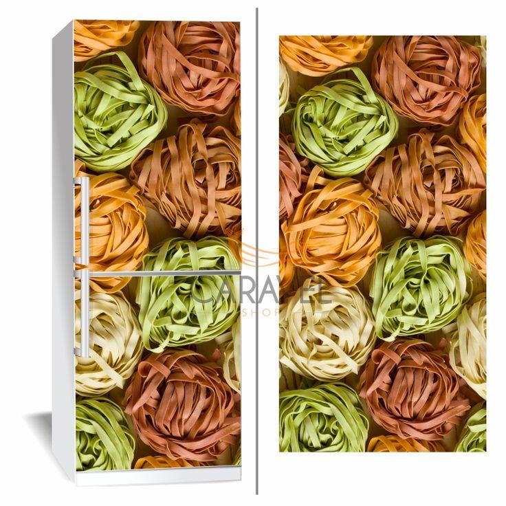 Αυτοκόλλητο Ψυγείου Χρωματιστά ζυμαρικά