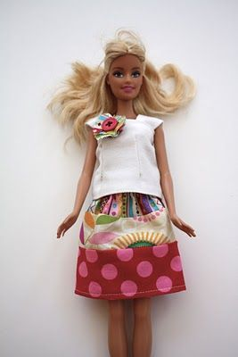 i'm sick of skimpy barbie clothes, here is a tutorial.