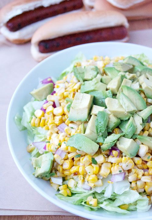 Corn Avocado Salad is the ultimate summer side for your backyard BBQ!