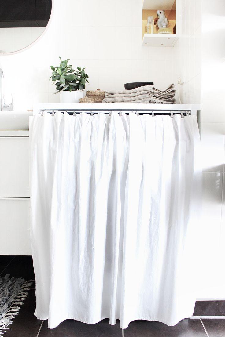 DIY: ein Versteck für die Waschmaschine *** DIY: hiding the washing machine behind a curtain