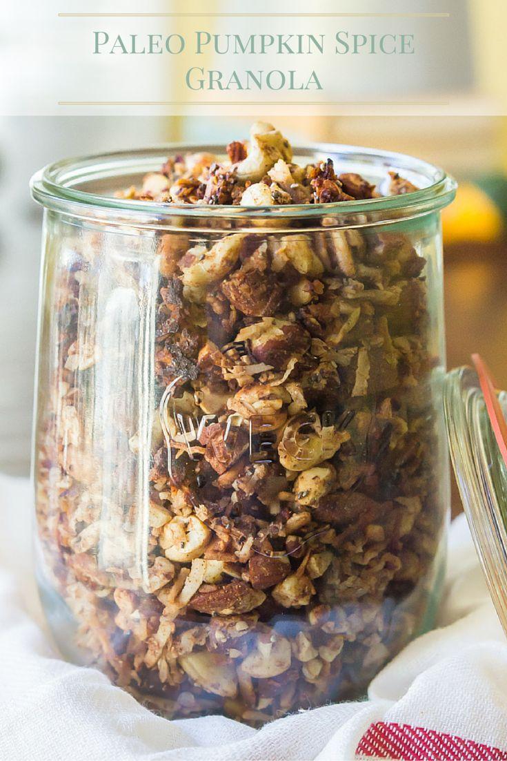 Pumpkin Spice Paleo Granola | Ready in 30 minutes!