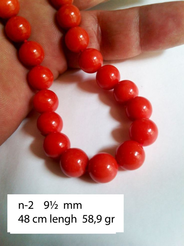 coral necklaces 9,5 mm italian handmade two natural genuine 108 beads collar #Handmade #Collar