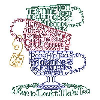 Ursula Michael - Lets do Tea cross stitch pattern.