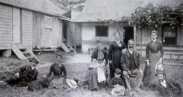 Peter Crebert and family, Mayfield circa 1900?