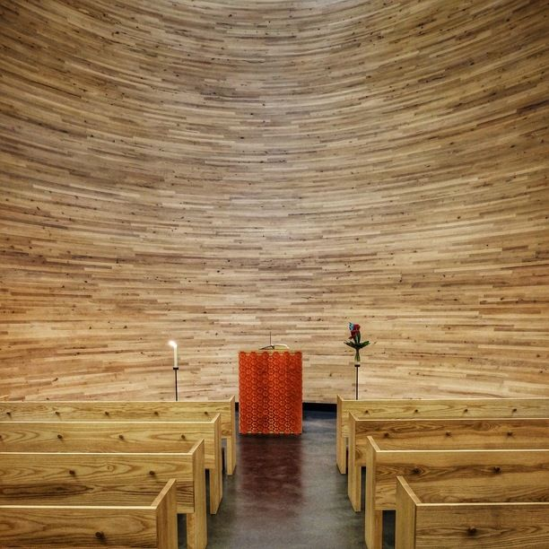 Kamppi Chapel, Helsinki, Finland — by Hecktic Travels. In one of the busiest areas of Helsinki, this tiny chapel (also called the 'Chapel of Silence') was created to...