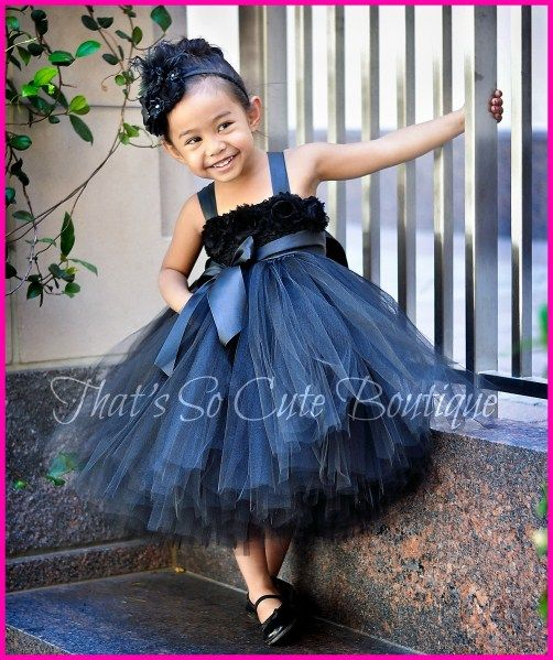 Peacock Tutu Flower Girl Dress | Black Flower Girl Tutu Dress, Audrey Hepburn tutu.