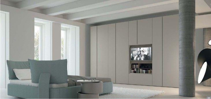 armadio moderno con tv