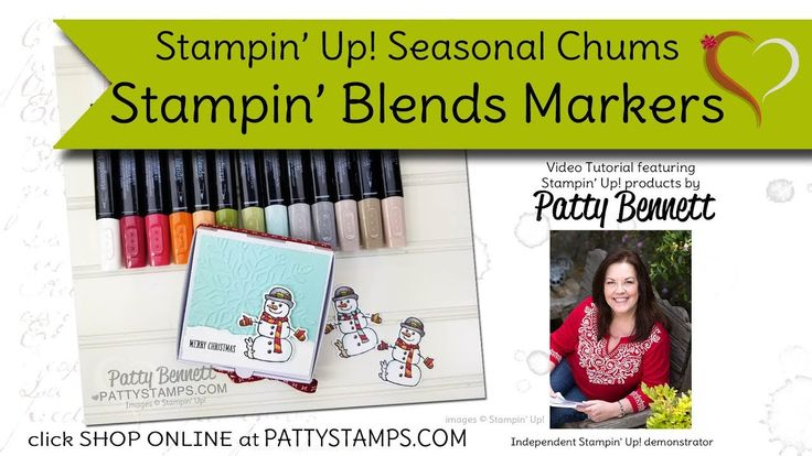 How to use Stampin' Blends markers to color Seasonal Chums snowman