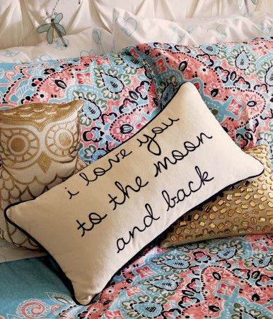 Moon and Back Throw Pillow - Aeropostale