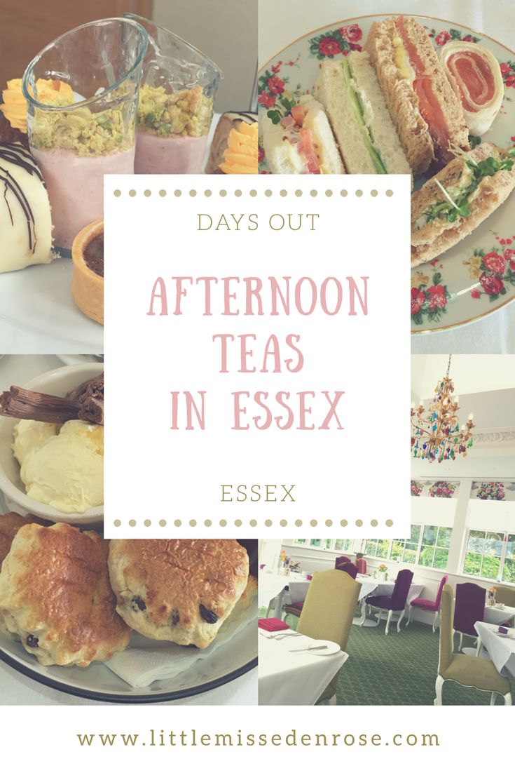 My favourite Afternoon Teas in Essex Anyone that knows me, knows I adore a good afternoon tea! The sandwiches, freshly baked scones, clotted cream and jam.