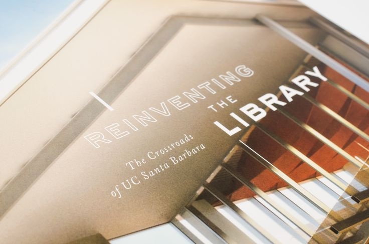 Tasteful type. UC Santa Barbara Library // fundraising campaign collateral by CDA // chendesign.com