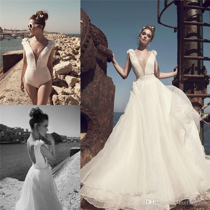 Cheap Julie Vino Appliques Beach Wedding Dresses Plunging Neckline A Line Backless Bridal Gowns Sleeveless Organza Wedding Gown Wedding Gown Rental Ball Dresses Online From Huifangzou, $133.67| Dhgate.Com