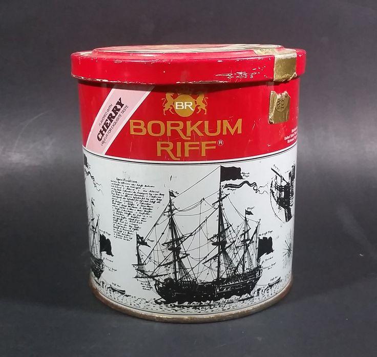 Vintage 1980s Borkum Riff Cherry Liqueur Flavor 12 oz Pipe Tobacco Tin - Empty https://treasurevalleyantiques.com/products/vintage-1980s-borkum-riff-cherry-liqueur-flavour-12-oz-pipe-tobacco-tin-empty #Vintage #1980s #80s #Eighties #BorkumRiff #Cherry #Cherries #Liqueur #Flavor #PipeTobacco #Tobacciana #Smoking #Smoke #Collectibles #Tins #Decor #ManCave #Garage #SheShed #Cans