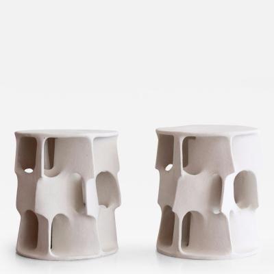 Guy Bareff Illuminated Ceramic Side Table By Guy Bareff