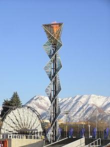 Rice Eccles stadium 2002 Olympic cauldron park