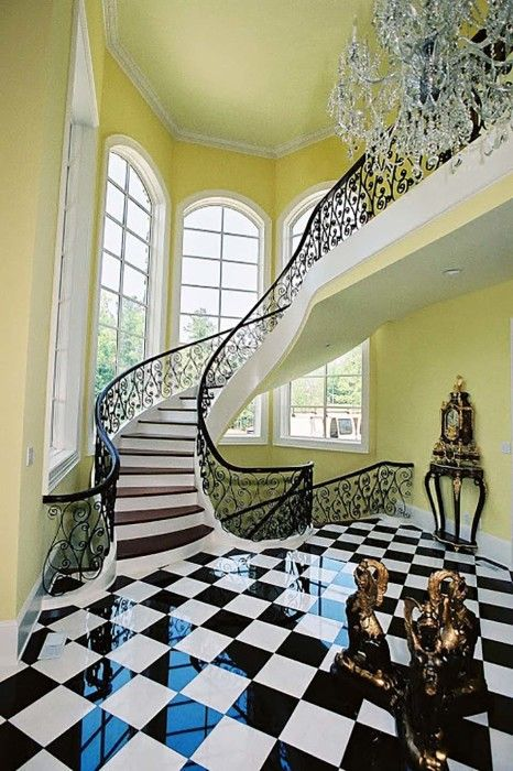 17 best ideas about curved staircase on pinterest for Double curved staircase