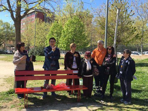 Pescara una Panchina rossa al parco Calipari per ricordare Jennifer Sterlecchini