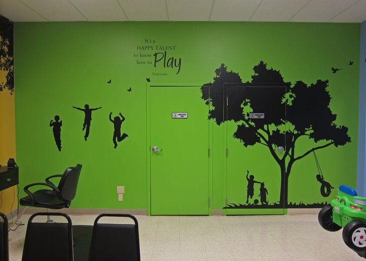 Playful murals and inspirational quotes for kids decorate each wall of the salon. Junior Cuts, a kids hair salon located inside Recreations Outlet in Milford, OH (Cincinnati).