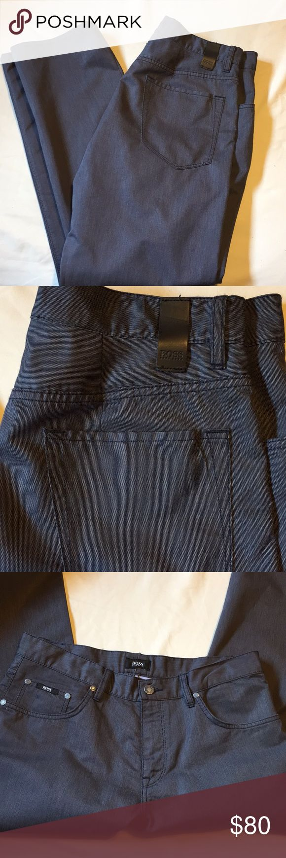 HUGO BOSS men's pant size 34/30 Hugo Boss pants for men. Size 34/30. Gently worn - excellent condition. MAINE regular fit. Hugo Boss Pants Chinos & Khakis
