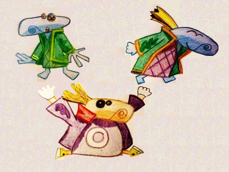 Teensies   I immediately fell in love with all of these wee creatures, the cutest ever!  Size: B/5 Technic: colour pencil Game: Rayman Origins