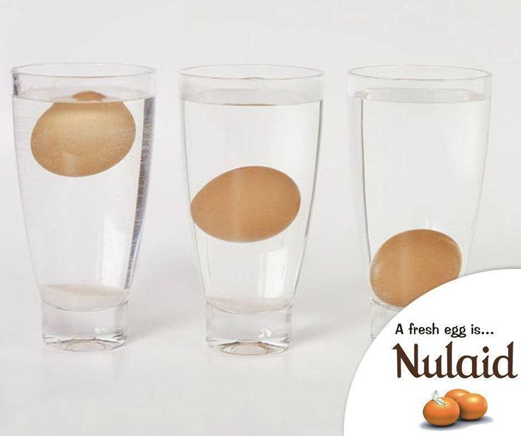 #Lifehack: Eggs last a long time, but if you're worried that your egg has spoiled, carefully sink it in a glass of water. If it goes straight to the bottom, you're good! However, if it floats, toss it out. #Nulaid