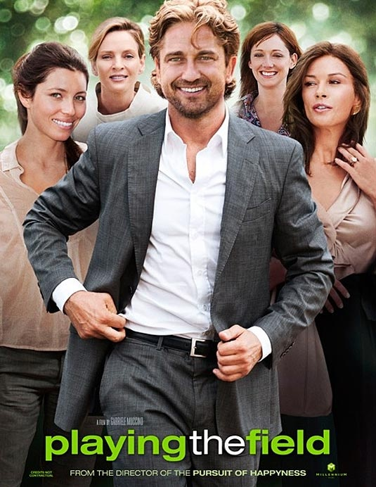 the yummy Gerard Butler in the film PLAYING THE FIELD   A former professional athlete with a weak past tries to redeem himself by coaching his son's soccer team, only to find himself unable to resist when in scoring position with his players' restless and gorgeous moms.   #hot #GerardButler #movie