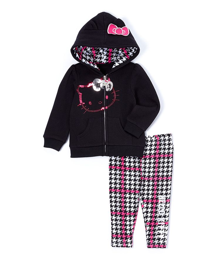Black & Pink Hello Kitty Hoodie & Leggings - Infant by Hello Kitty #zulily #zulilyfinds