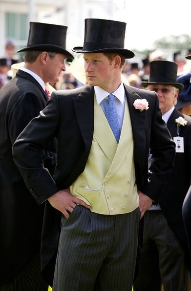 Prince Harry in a T.O.P.H.A.T and tails....if I'm being honest he wouldn't be able to wear that for long cuz it would be in a shredded pile since I ripped it off at the speed of light! HOT DAMN